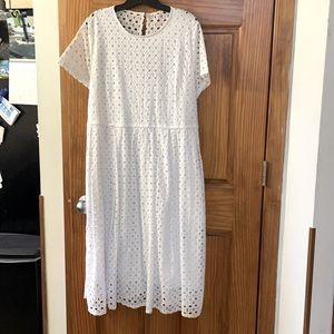 NWT Lane Bryant eyelet white dress!
